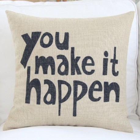 Make it Happen Pillow Cover