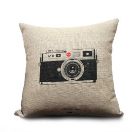 Vintage Camera Pillow Cover