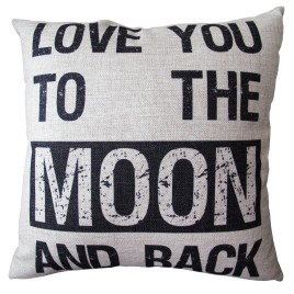 Love You to the Moon! Pillow Cover