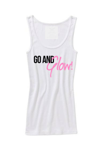 go and glow tank top white
