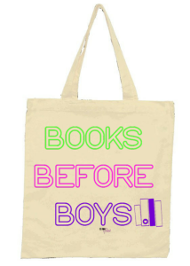 books before boys tote