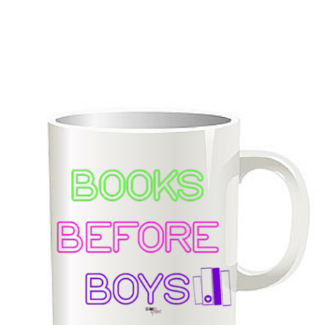 Books Before Boys mug