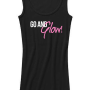 go and glow tank top black