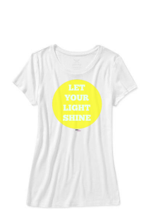 let your light shing girls tshirt