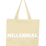millennial tote white/natural