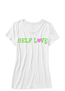 self love girls tshirt green