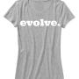 evolve womens tee white/gray