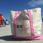 go and glow pink tote