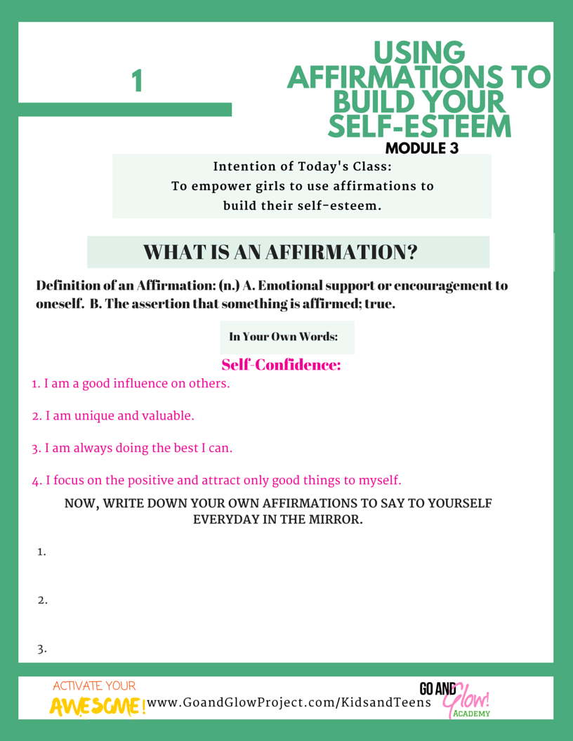 Activate Your Awesome Module 3 – Using Affirmations to Build Your ...